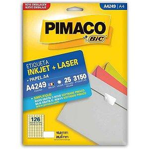 Etiqueta A4 A4249 25 Fls 15,0 X 26,0 Mm Pimaco