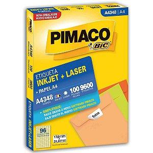 Etiqueta A4 A4348 100 Fls 17,0 X 31,0 Mm Pimaco