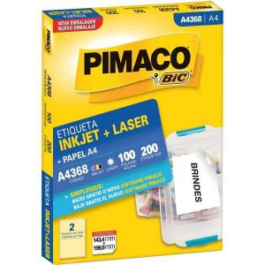 Etiqueta A4 A4368 100 Fls 143,4 X 199,9 Mm Pimaco