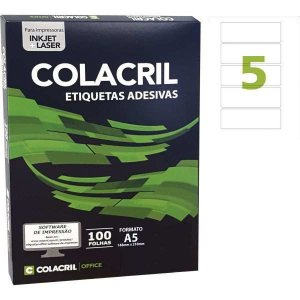 Etiqueta A5 35X105Mm 100 Folhas Colacril