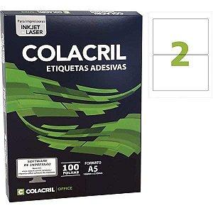 Etiqueta A5 98X138,5Mm 100 Folhas Colacril
