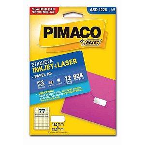 Etiqueta A5 A5Q-1226 12 Fls 12,0 X 26,0 Mm Pimaco