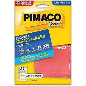 Etiqueta A5 A5Q-1250 12 Fls 12,0 X 50,0 Mm Pimaco