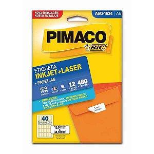 Etiqueta A5 A5Q-1534 12 Fls 15,0 X 34,0 Mm Pimaco