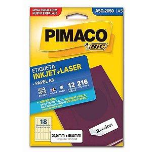 Etiqueta A5 A5Q-2050 12 Fls 22,0 X 55,0 Mm Pimaco
