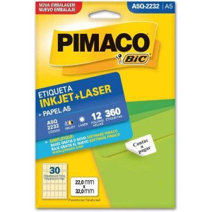 Etiqueta A5 A5Q-2232 12 Fls 22,0 X 32,0 Mm Pimaco