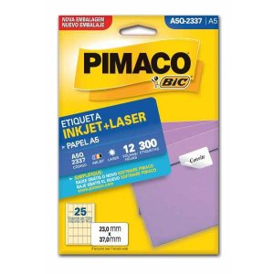 Etiqueta A5 A5Q-2337 12 Fls 23,0 X 37,0 Mm Pimaco