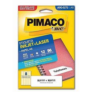 Etiqueta A5 A5Q-3272 12 Fls 32,0 X 90,0 Mm Pimaco