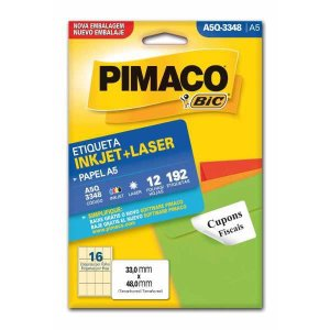 Etiqueta A5 A5Q-3348 12 Fls 33,0 X 48,0 Mm Pimaco