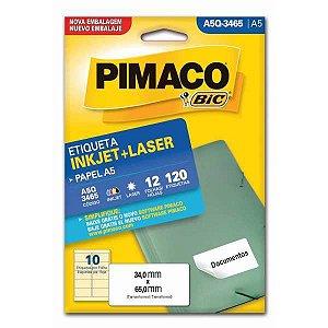Etiqueta A5 A5Q-3465 12 Fls 34,0 X 65,0 Mm Pimaco