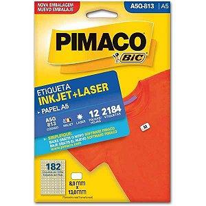 Etiqueta A5 A5Q-813 12 Fls 8,0 X 13,0 Mm Pimaco