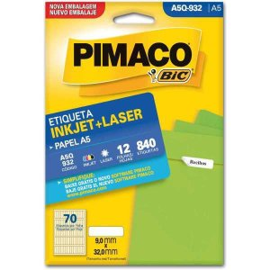 Etiqueta A5 A5Q-932 12 Fls 9,0 X 32,0 Mm Pimaco