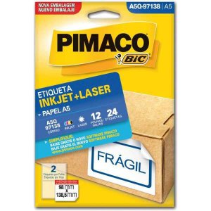 Etiqueta A5 A5Q-97138 12 Fls 98 X 138,5 Mm Pimaco