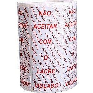 Etiqueta Adesiva Lacre Segurança 100X35Mm 500Et Fitacrel