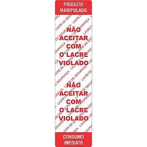 Etiqueta Adesiva Nao Aceitar Lacre Viol100X25Mm Grespan