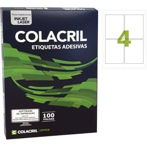 Etiqueta Carta 106,36 X138,11Mm 100 Folhas Colacril