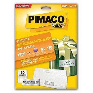 Etiqueta Carta 1580 Met 05 Fls 25,4 X 66,7 Mm Pimaco