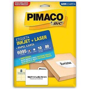 Etiqueta Carta 6095 10 Fls 59,27 X 85,73 Mm Pimaco