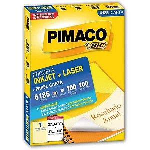 Etiqueta Carta 6185 100 Fls 279,4 X 215,9 Mm Pimaco