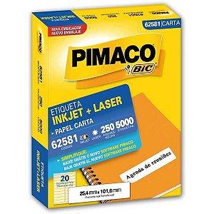 Etiqueta Carta 62581 250 Fls 25,4 X 101,6 Mm Pimaco