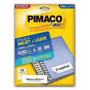 Etiqueta Carta 6282 25 Fls 33,9 X 101,6 Mm Pimaco