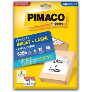 Etiqueta Carta 6286 25 Fls 138,11 X 212,73 Mm Pimaco