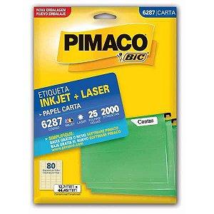 Etiqueta Carta 6287 25 Fls 12,7 X 44,45 Mm Pimaco