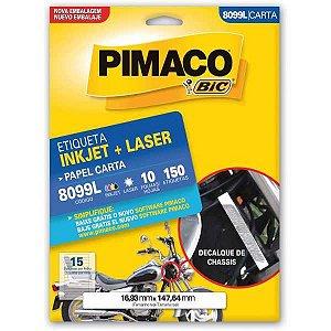 Etiqueta Carta 8099L 10 Fls 16,93 X 147,64 Mm Pimaco