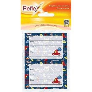 Etiqueta Escolar Decorada Masculino 53X80Cm. Reflex