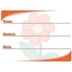 Etiqueta Escolar Decorada Vermelha Flor 60X40Mm. Grespan