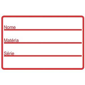Etiqueta Escolar Tarja Vermelha 60X40Mm. Grespan