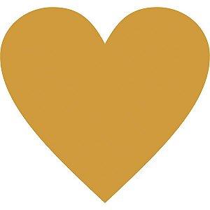 Etiqueta Lisa Com Formas Coração Ouro C/210 Etiquetas Grespan