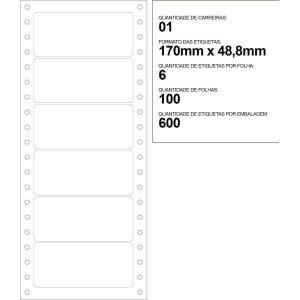 Etiqueta Matricial 107X48Mm 100 Folhas Colacril