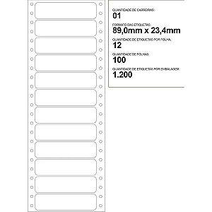 Etiqueta Matricial 89X23,4Mm 100 Folhas Colacril