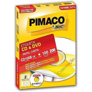 Etiqueta Para Cd E Dvd Cd100B Carta 100 Fls 115 Mm Pimaco