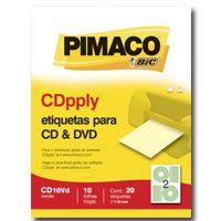 Etiqueta Para Cd E Dvd Cd10Vd Verde 20Etiqx10Fls. Pimaco