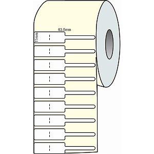 Etiqueta Para Joia Branca Adesiva 63,5Mmx11Mmx30M Grespan