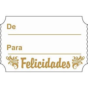 Etiqueta Para Presente Felicidades Retangular Bc/dr Grespan