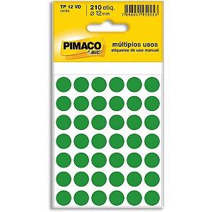 Etiqueta Redonda Tp-12 Verde Redonda 12 Mm Pimaco