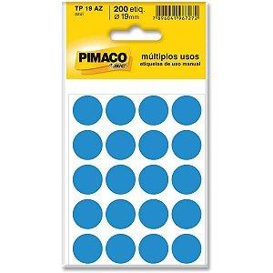 Etiqueta Redonda Tp-19 Azul Redonda 19 Mm Pimaco