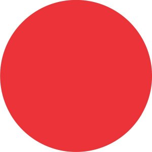 Etiqueta Redonda Vermelha 19Mm. C/150 Etiquetas Grespan