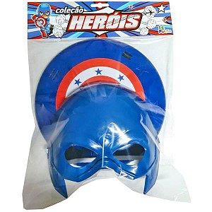 Fantasia Acessório Kit Defensores Azul 23Cm. Leplastic