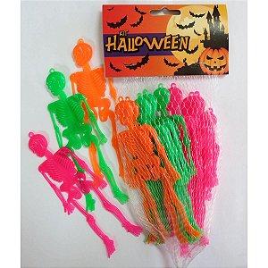 Fantasia Acessório Kit Halloween Mini Esqueleto Brasilflex
