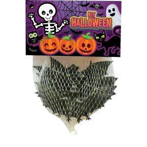 Fantasia Acessório Kit Mini Morcego Halloween Brasilflex
