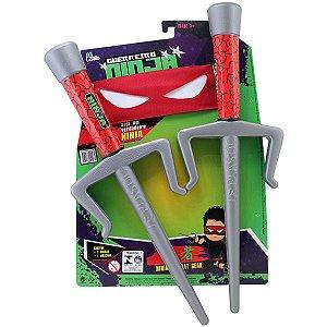 Fantasia Acessório Kit Ninja C/mascara 34Cm Leplastic
