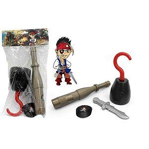 Fantasia Acessório Kit Pirata 30Cm Leplastic