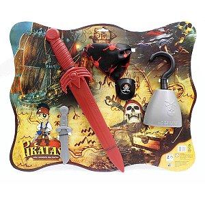 Fantasia Acessório Kit Pirata 52Cm. Leplastic