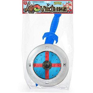Fantasia Acessório Vikings 1 Espada + 1 Escudo Leplastic