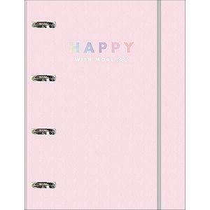 Fichario Cartonado Happy 80Fls. C/elastico Tilibra