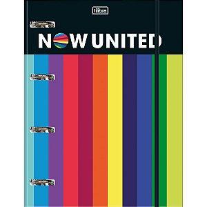 Fichario Cartonado Now United 80Fls C/elastico Tilibra